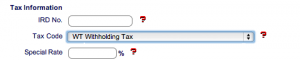 Withholding tax in smartpayroll payroll wages