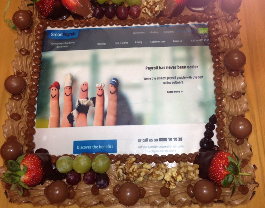 New smart payroll website cake